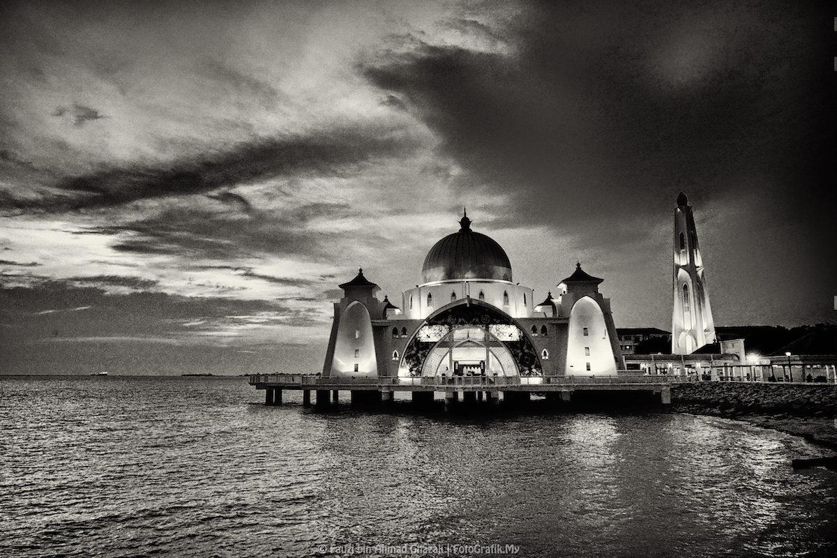 Kumpulan Foto Gambar Masjid Hitam Putih Jpg Paling Keren